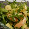 Salade d'avocat aux crevettes et à l'orange