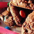 Cookies au chocolat et aux m&m's