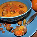 Soubenn noz: le très riche velouté de carottes aux épices douces et croûtons au curcuma