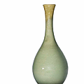 A Korean celadon incised 'lotus' bottle vase, Goryeo dynasty, <b>12</b>-<b>13th</b> <b>century</b>