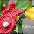 Idée déco de pâques : crochet traduction pattern spring bunny