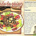 Recette gourmande: La Salade de gésiers...