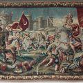 """Grande tapisserie de la tenture de """"la jérusalem délivrée"""". atelier de la marche, aubusson, xviie siècle."""