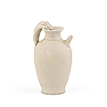 A fine small Xingyao white-glazed ewer, Tang Dynasty (618-907)