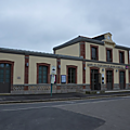 le Collectif citoyen de défense des axes Caen Rennes, Paris Granville et Caen Tours en action à Pontorson mercredi 31 oct. 2018