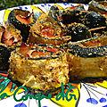 Roulés de courgettes panées au jambon et provola