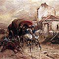 Beauquesne, l'attaque de uhlans à Woerth