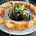 Salade au melon et jambon de serrano