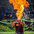 Le feu kanahi (médiéval du château de talmont)