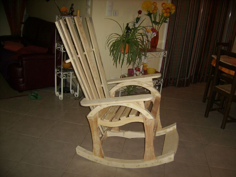 rocking chair en bois papylou bricoleur. Black Bedroom Furniture Sets. Home Design Ideas
