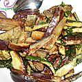 Salade croquante de courgettes et d'aubergines
