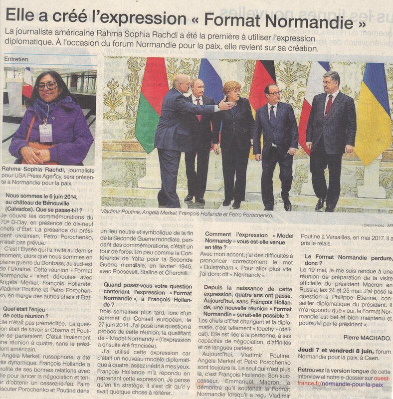 DIPLOMATIE: la petite histoire du «FORMAT NORMANDIE»