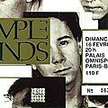 <b>Simple</b> <b>Minds</b> - Dimanche 16 Février 1986 - POP Bercy (Paris)