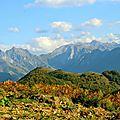 Le Pic Bergon, l'Embarrère, les Pics Permayou, Isabé et Sesques.