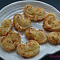 Biscuit apéro très spécial : palmier coco gingembre inspiré par yoom