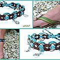 REF Pi 0006 bracelet marron turquoise