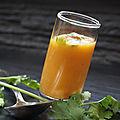 Soupe froide de carottes a la noix de coco
