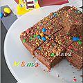 Brownie aux m&m's