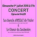 <b>Concert</b> 1 juillet 2018 Quarantième anniversaire de la chorale Amistat. <b>Concert</b> en compagnie du