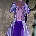 Robe de ballet : raiponce
