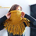 Snood moutarde