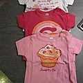 t-shirts / tuniques 3 - 6 - 9 - 12 mois