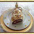 Bûche au chocolat, lemond curd, meringuée.........