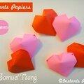 Coeur en origami / origami heart