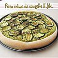 Pizza crème de courgettes et feta