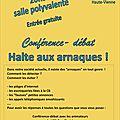 Halte aux arnaques ! une conférence à saint-gence vendredi 1er avril 2016