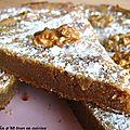 Gâteau aux noix et à la farine de châtaignes