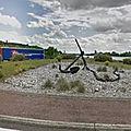Rond-point à Amfreville-la-Mi-Voie