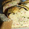 Cake au saumon et asperges