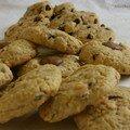 Cookies, tout simplement (mais avec ces ptits bouts de nougatine, hum hum)