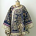 Coat, <b>1850</b>–<b>1900</b>. Chinese, silk, metal