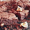 Brownie <b>sans</b> œuf, ni <b>beurre</b> et peu sucré