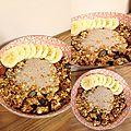 Granola aux fruits secs, bananes et graines