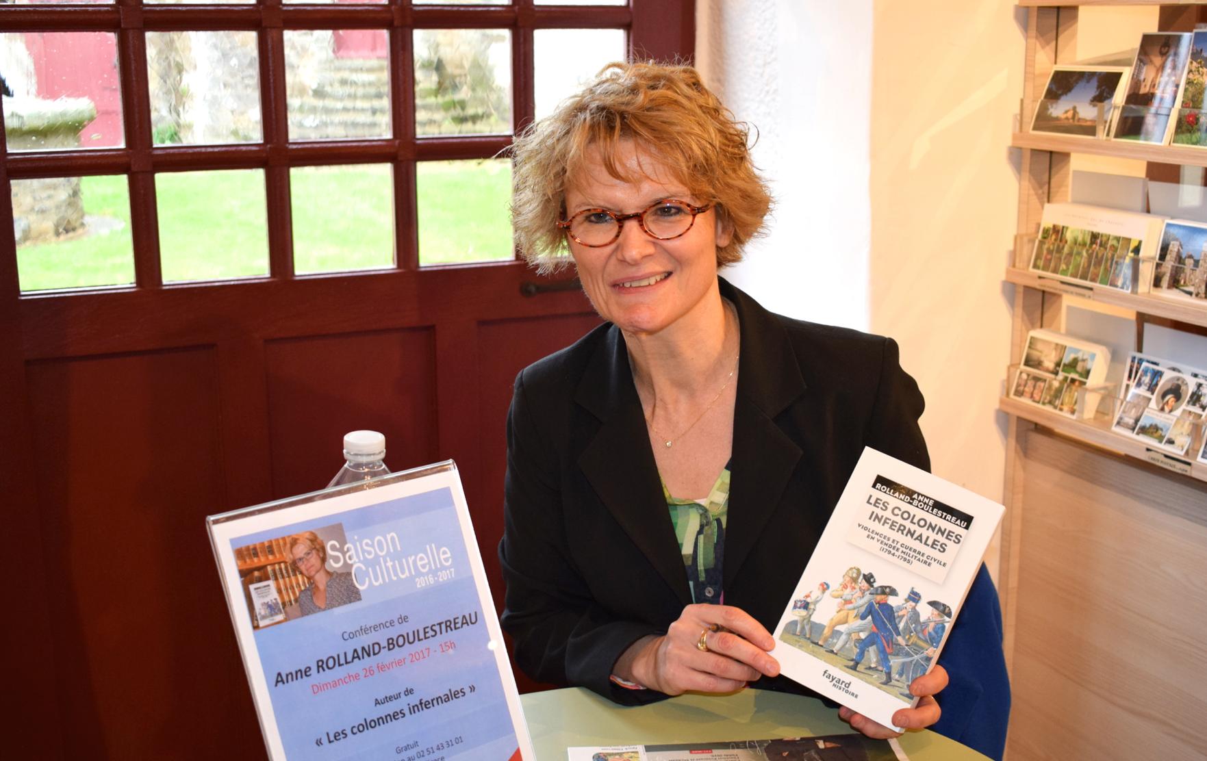 28 mars 2018 : À Boussay, conférence d'Anne Rolland-Boulestreau sur les Colonnes infernales