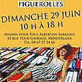 Carole au salon du livre de figuerolles le dimanche 29 juin