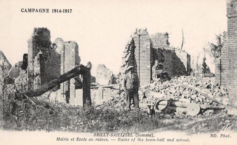 Sailly-Saillisel, 1914-1917, ruines