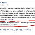 <b>Laurent</b> <b>Bouvet</b> soutient la censure d'un colloque sur l'islamophobie, mais défend la liberté d'expression de Finkielkraut