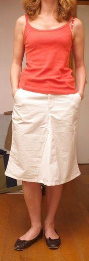Un pantalon transformé en jupe, 2011