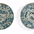 Two Swatow blue and white dishes for the Islamic market, Late Ming Dynasty, <b>16th</b>-<b>17th</b> <b>century</b>