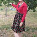 Claire, et sa robe Pin Up Cerises