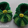 Roselaine chaussons citrouilles crochet 2