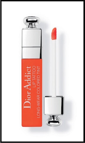 dior addict lip tattoo color juice orange