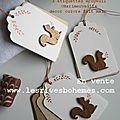 Marimerveille étiquettes Au bois chic écureuil