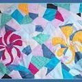 Patchwork en soie peinte