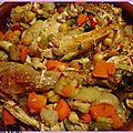Tajine poulet et légumes pour couscous marocain