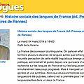 À la librairie dialogues à brest : l'histoire sociale des langues de france
